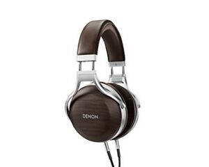 Details about DENON headphone overhead sealed dynamic high reso wood  housing AH-D5200