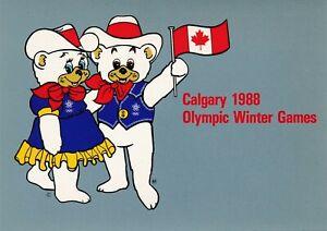 1988-Winter-Olympics-Calgary-original-postcard