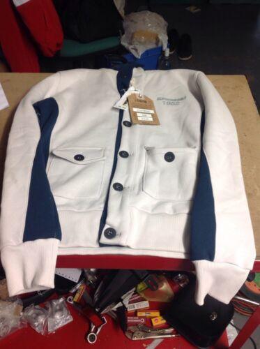 para Kawasaki blanca m original con Nuevo talla azul hombre S Sudadera de capucha aBRCwq