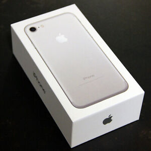 APPLE-iPHONE-7-SILVER-128GB-MINT-RETAIL-BOX-amp-PAPERS-NO-PHONE-NO-ACCESORIES