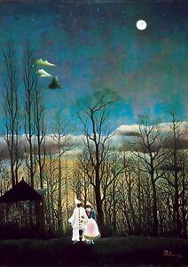 Henri-Rousseau-Carnival-Evening-A3-size-Canvas-Art-Print-Poster-Unframed