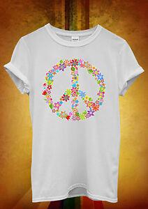 Segno-di-pace-FIORE-ESTATE-COOL-Hipster-uomini-donne-unisex-maglietta-TANK-TOP-CANOTTA-449