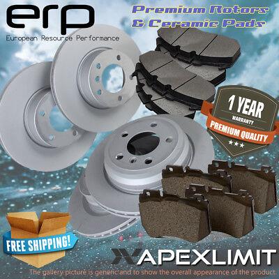 F+R Drilled Rotors /& Ceramic Pads for 2008-2015 GMC Sierra 1500 w// Rear Disc
