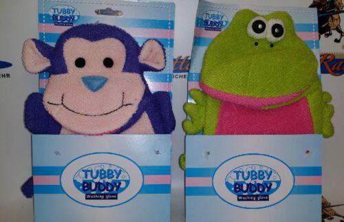 Tubby Buddy Waschlappen 1x Affe u 1x Frosch Neu /& OVP