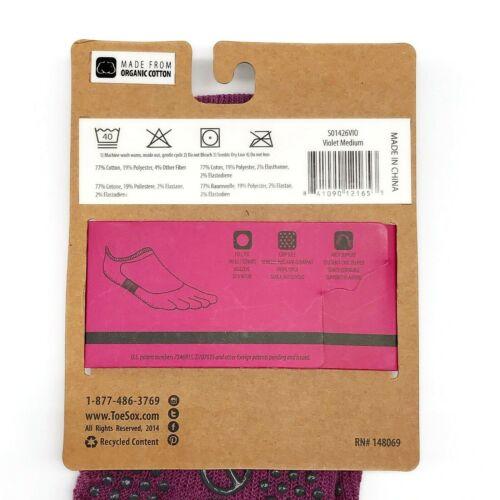 ToeSox Unisex Full Toe Grip Bellarina Toe Socks Yoga Pilates Medium
