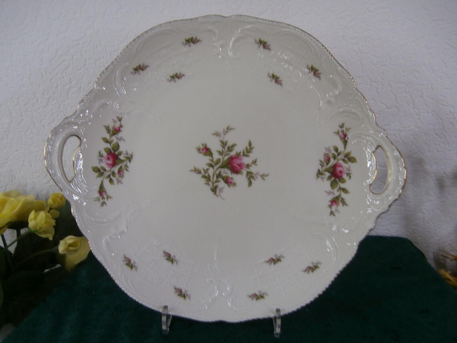 Rosanthal Sanssouci MoosRosa  Tortenplatte  mit PolierGoldkante PolierGoldkante PolierGoldkante   Sale Outlet  f5d0c0