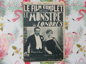 WEREWOLF OF LONDON  HENRY HULL WARNER OLAND 1938   FRENCH MOVIE MAGAZINE
