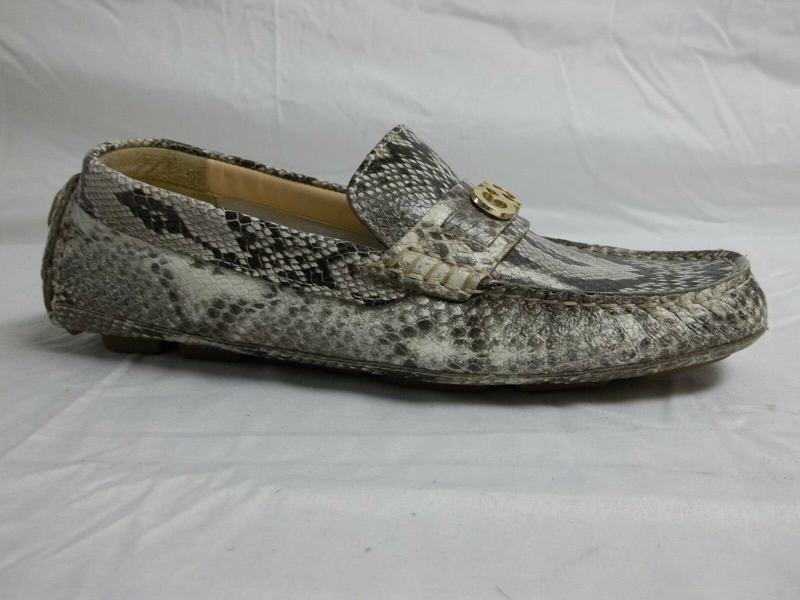 Cole Haan Size 6 M Shelby Natural Leather Snake Loafers New Womens shoes NWOB