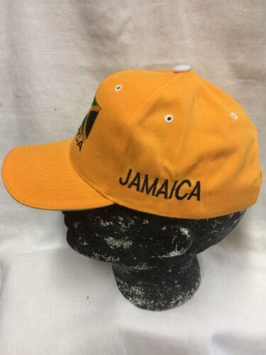 JAMAICA YELLOW BASEBALL CAP//HAT WITH FLAG BADGE RASTA ROOTS REGGAE