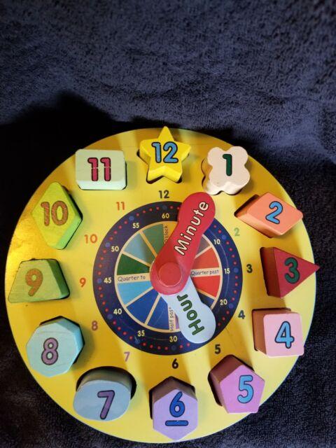 Shape Sorting Clock For Preschoolers by Melissa & Doug   eBay
