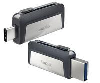 SanDisk 16GB 32GB 64GB OTG DUAL USB3.1 3.0 TYPE-C Pen Drive Memoria Chiavetta IT
