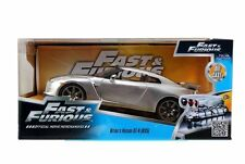 JADA 97212 - 1/24 2009 NISSAN SKYLINE GT-R (R35) FAST & FURIOUS SILVER MODEL CAR