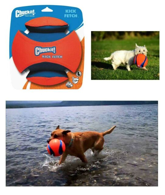 The Chuckit! Kick Fetch Dog Toy Kick and Watch Dogs Chase and Play Outdoor !