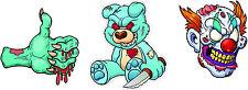 #833 Evil Bear Psycho Zombie Clown Knife Decal Motorcycle Laptop Skateboard Car