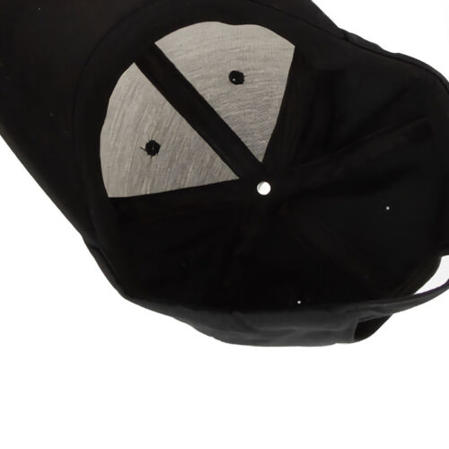 Black Baseball Cap Snapback Hat Hip-Hop Adjustable Bboy Caps For Men Women