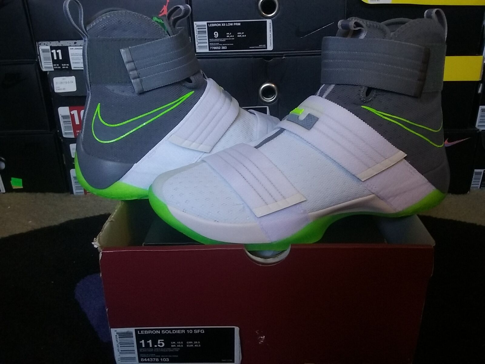 Nike Air Zoom Soldier X 10 LeBron James SFG Dunkman White Cool Grey 1 844378 103