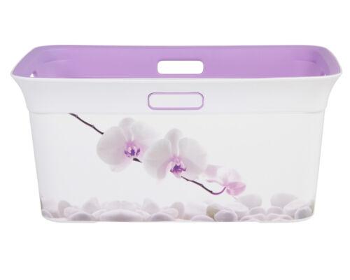 Ondis24 Wäschekorb Tragekorb Wäschesammler Korb Transportkorb Moda Orchidee 45 L