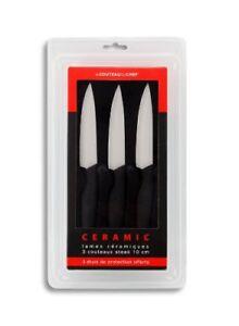 Tarrerias Bonjean Set De 3 Couteaux à Steak Lames Céramiques 10 Cm ergonomique