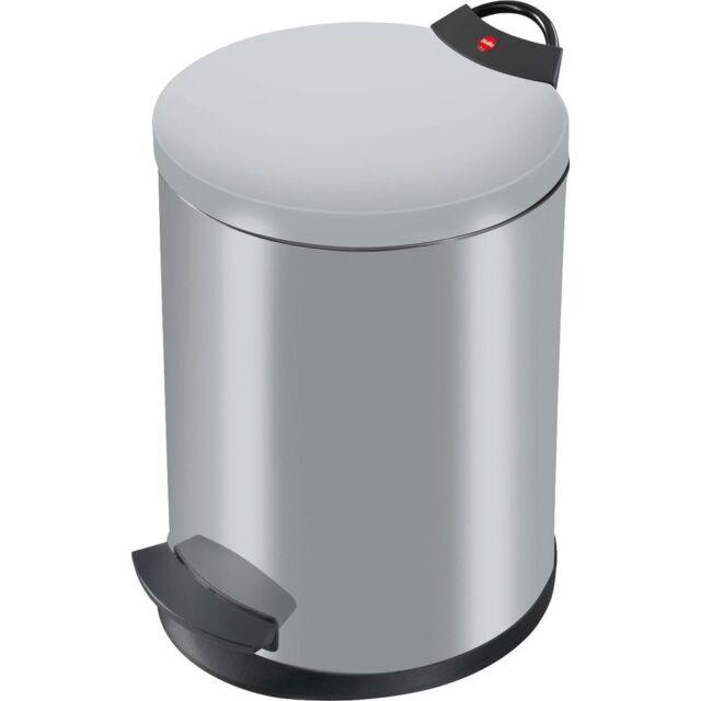 Hailo Tret-Abfallsammler »T2« mit Pedal, silber-matt, 11 Liter (0519-119)