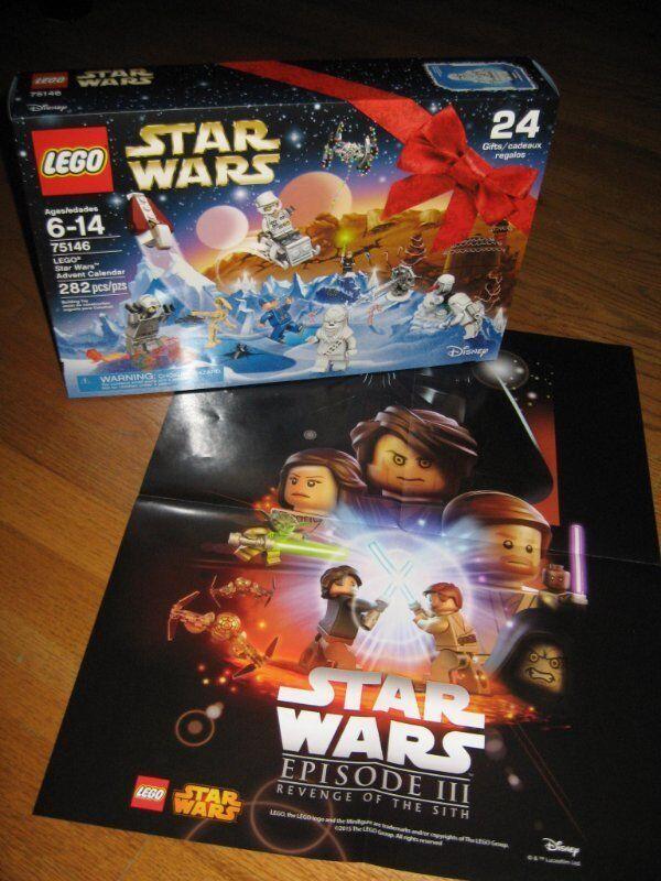 Lego Star Wars 2016 ADVENT CALENDAR   75146  282 PC Bonus REVENGE OF SITH Affiche  avec 100% de qualité et 100% de service