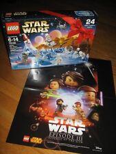 LEGO STAR WARS 2016 ADVENT CALENDAR # 75146  282 pc BONUS Revenge of Sith POSTER