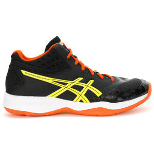 ASICS Men's Netburner Ballistic FF MT Black/Sour Yuzu Volleyball Shoes 1051A0...