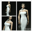 1//6 Woman White Pearl Shirt Dress Clothes Fit Phicen Large Bust Body