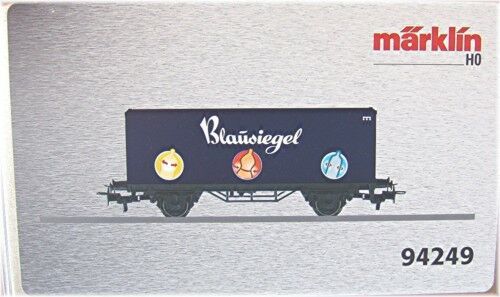 94249 Vagone per Container   Sigillo Blu     Nuovo in Scatola Originale