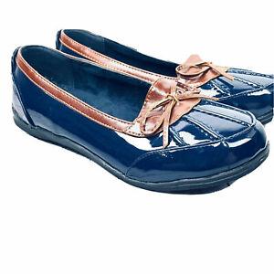 low 8W Flat Rubber Rain Shoes Blue Slip