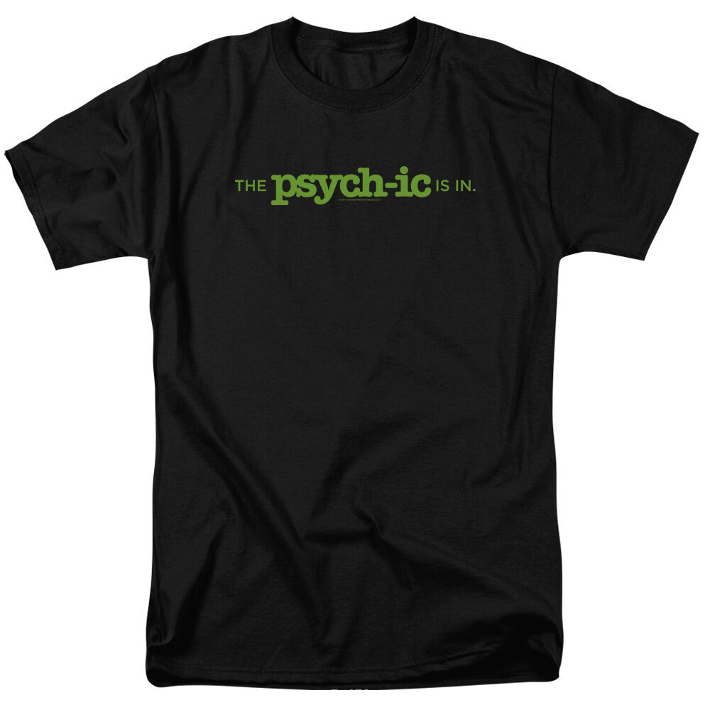 Psych TV Show THE PSYCH-IC IS IN Licensed Adult T-Shirt All Größes