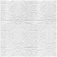 Design By Color Ceiling Tile Raised Textured Paintable Wallpaper Vp131600