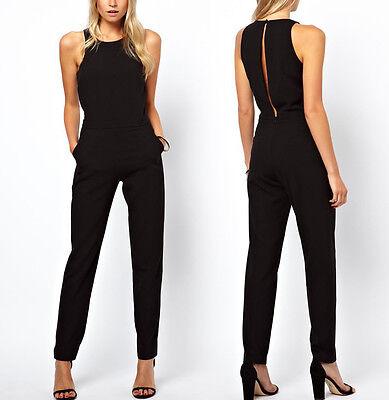 New Elegant Womens Sleeveless Tank Party Black Evening Dress Playsuit Jumpsuit
