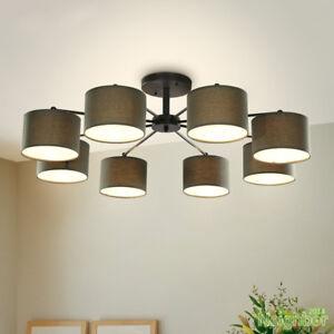 Details About New Modern Led Ceiling Lamp Brown Chandelier Pendant Light Living Room Lighting