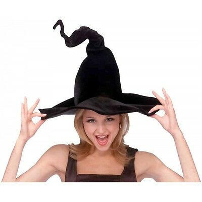 Wired Bendable Witch Hat Costume Accessory Adult Womens Black Halloween