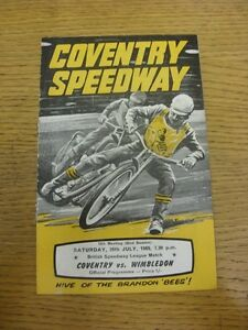 26-07-1969-Speedway-Programme-Coventry-v-Wimbledon-results-noted-folded-ligh