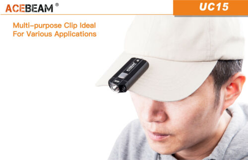 NEW Acebeam UC15 Cree XP-L Max.1000 Lumens Keychain Flashlight in Color Black