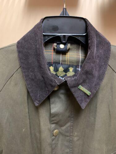 Barbour Ashby Men's Medium Olive Wax Cotton Jacket