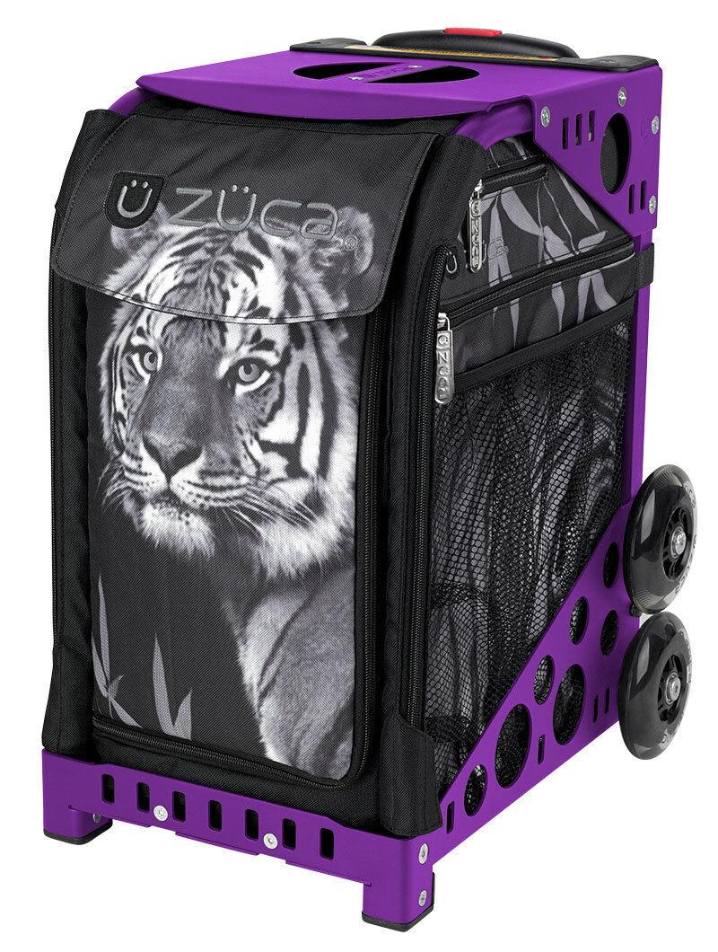 ZUCA Bag TIGER Insert & Purple Frame w Flashing Wheels - FREE SEAT CUSHION