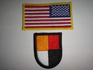 2 Us Armée Correctifs - USA Inversé Drapeau + États-unis 3ème Forces Spéciales GF08s0EZ-09114657-494946494