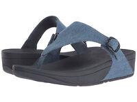 Women Fitflop The Skinny Flip Flop Sandal E13-406 Denim 100% Authentic Brand