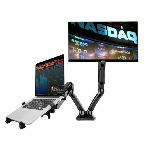 "Dual LCD Arm Desk Mount for 10"""" 27/"" monitor and 10/"" 15.6/"" Laptop Notebook"