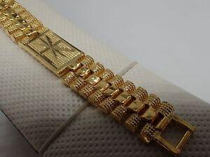 Image Is Loading Men Jewellery 18k Yellow Gold Solid Diamond Cut
