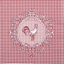 4x Paper Napkins for Decoupage Decopatch Craft Rooster Red
