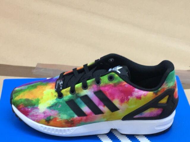 Adidas ZX Flux Baskets Chaussures de Sport Multicolore Ortholite Dames Enfants EUR 36