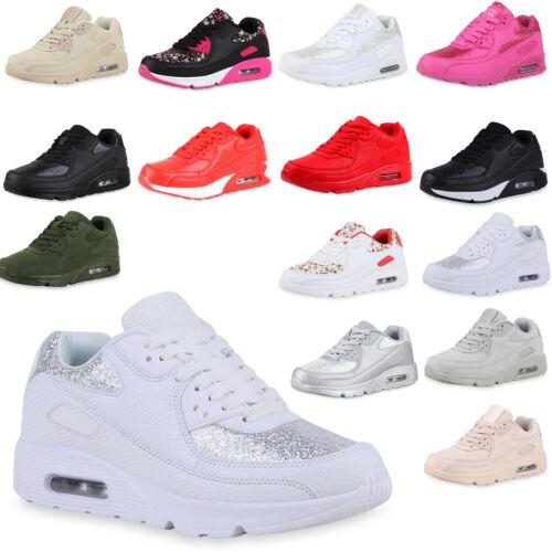 Damen Sportschuhe Glitzer Runners Laufschuhe Sneakers 77086 Trendy Neu