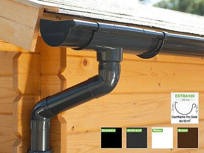 Dachrinnenset Pultdach 1 Dachseite In 4 Farben! regenrinnen   Extra100