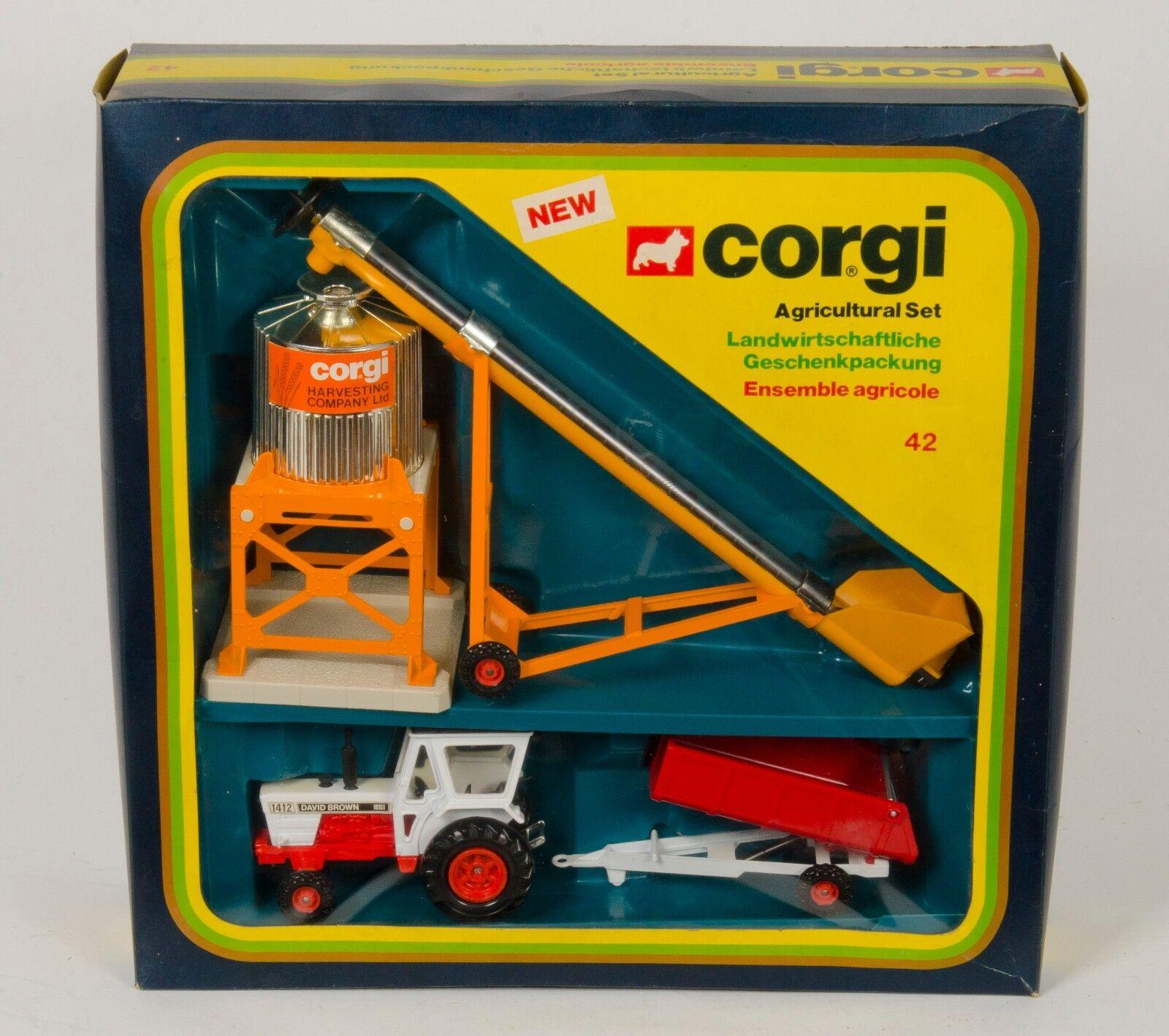 Corgi Gift Set 42 'Agricultural Set'. MINT Boxed. Original 1970's