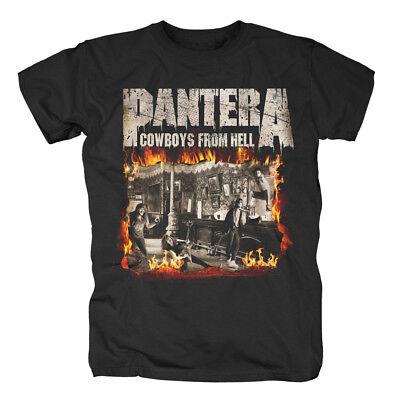 Cowboys From Hell Fire Frame T-shirt Kleidung & Accessoires Ausdauernd Pantera Musik