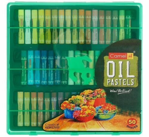 Camlin Kokuyo Oil Pastel Crayons 50 Non Toxic Assorted Colors