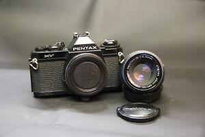 Camara-SLR-pelicula-de-35mm-Pentax-MV-con-lente-50mm-f2-Prime-Tapas-Etc-Reparado